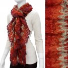 Gorgeous Unique Multi Color Ruffle Knit Fashion Scarf Red SF00278RD