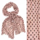 Adorable Sweet Polka Dot Pattern Lightweight Fashion Scarf Pink SF00293PK