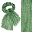 Adorable Sweet Polka Dot Pattern Lightweight Fashion Scarf Green SF00293GN