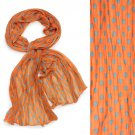 Adorable Sweet Polka Dot Pattern Lightweight Fashion Scarf Orange SF00293OR