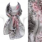 Beautiful Mixed Animal Print Pattern Lightweight Fashion Scarf Pink Gray SF00295GY