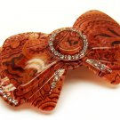 Woman Fashion Hair Barrette Clip Ribbon Pink Red NEW HA00353-PK