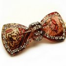 Woman Fashion Hair Clip Floral Ribbon Red NEW HA00342-RD