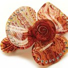 Woman Fashion Hair Clip Flower Crystal Pink Red NEW HA00354-PK