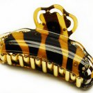 Woman Hair Claw Lucite Animal Print Crystal Gold NEW  HA00335-G