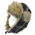 Plaid Design Faux Fur Trooper Aviator Trapper Cold Weather Winter Ski Cap Hat Green HT00004-GN