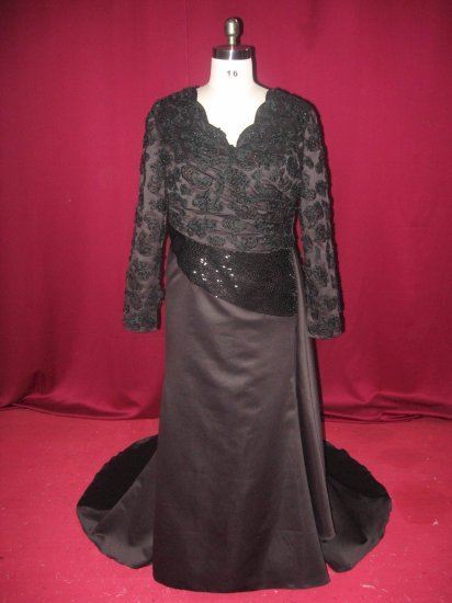 x Fashion Ltd | Plus Size Formal Dresses | Black Evening Gowns | Long Sleeve