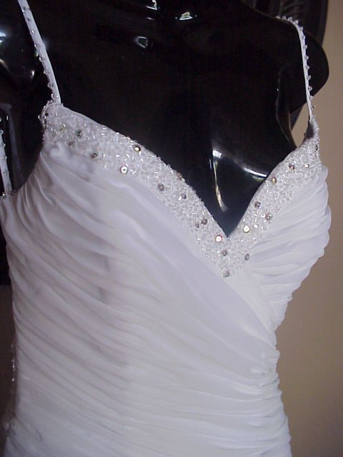 Darius Cordell #2008AD - White Formal Dresses | Chiffon Pageant Gowns