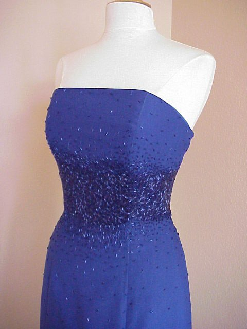 Darius Cordell Style #2009 Blue Plus Size Evening Dresses