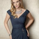 x #L113 Navy Blue Mother of Bride Dresses