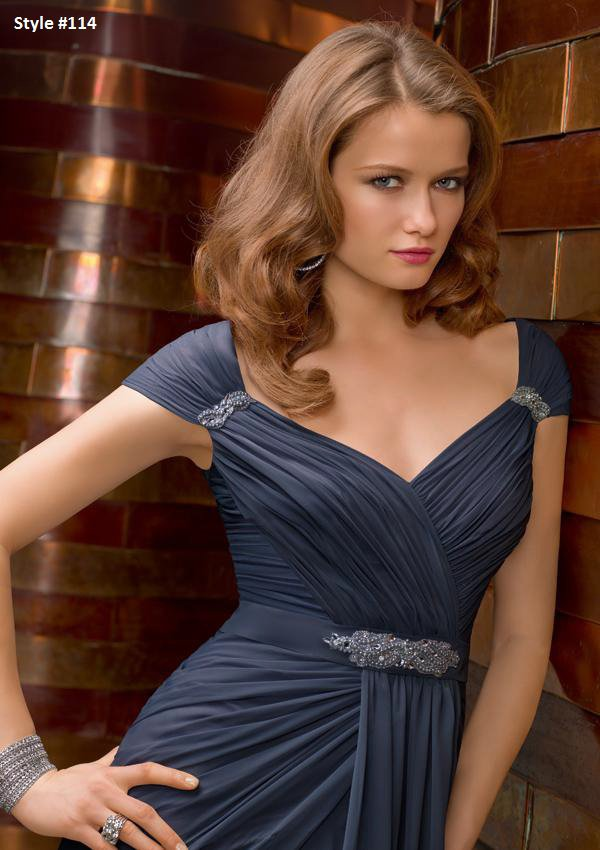 x #L114 Short Sleeve Evening Dresses