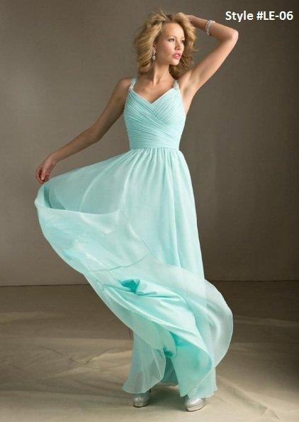 x #LE06 High Waist Evening Dresses, Chiffon Formal Wear