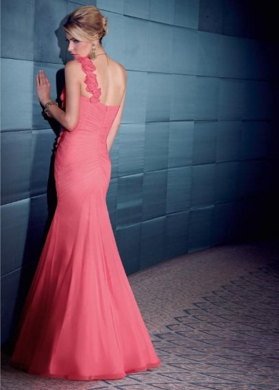 x #LE09 One Shoulder Prom Dresses