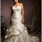 x #B2018 Silk Plus Size Wedding Dresses