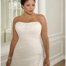 x #B2022 Chiffon Wedding Dresses for Plus Size Women