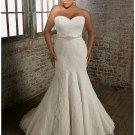 x #B2025 Lace Plus Size Bridal Gowns