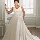 x #B2027 - Silk Taffeta Wedding Dresses for PLus Size Women