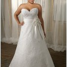 x #B2029 A-line Bridal Gowns for Plus Size Women