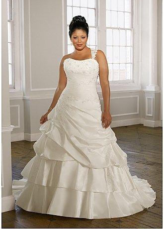 Darius Cordell Wedding - One Shoulder Wedding Dresses for Plus Size Brides