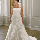 x #B2033 One Shoulder Bridal Gowns for Plus Size Women