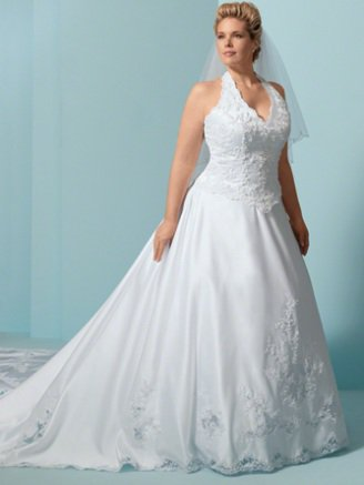 x - Halter Style Wedding Dresses for Plus Size Brides