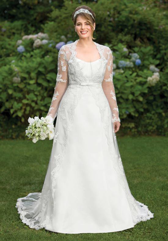 Long Sleeve Plus Size Lace Wedding Dresses - Darius Cordell