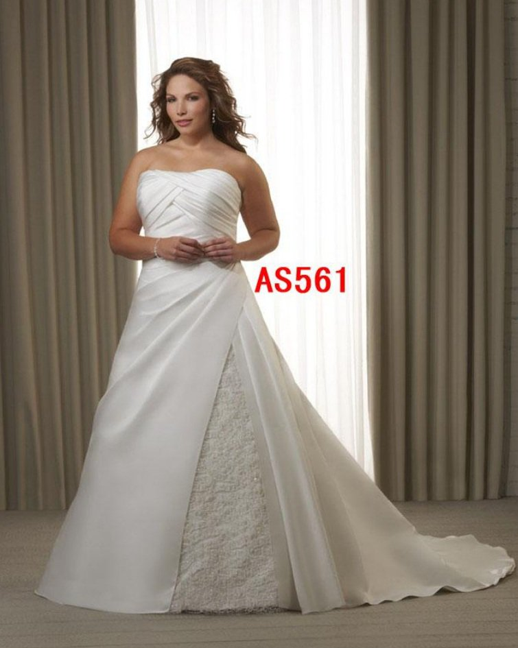 x #AS561 PLus Size Informal Wedding Dresses