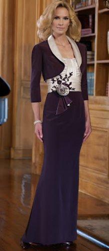 x #210955 - Black White Mother of Bride Dresses