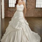#524690F x | Satin Wedding Dresses with Belt