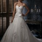 #BDW-015 x Pleated Bridal Gowns, Classic Taffeta Wedding Dresses
