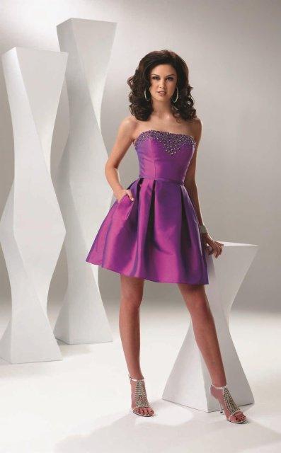 #DW-012 x | Short party Dresses - Purple Cocktail Dresses