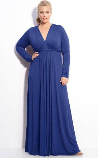 #2013-33 x | Long Sleeve Plus Size Evening Dresses -