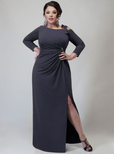 Darius Cordell Dallas Plus Size Evening Wear - Long Sleeve Dresses