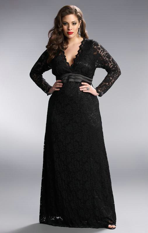 Darius Cordell Couture | Long Sleeve Lace Evening Dresses, Black Lace Gowns