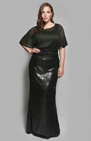 #2013-62 - x  - Sequin Evening Dresses for Plus Size Women