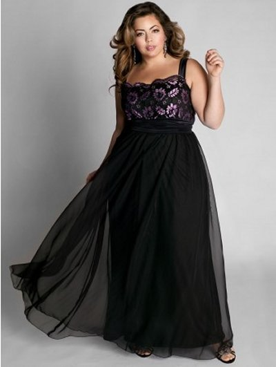 #2013-E30 x | Black Ball Gowns for Plus Size Women