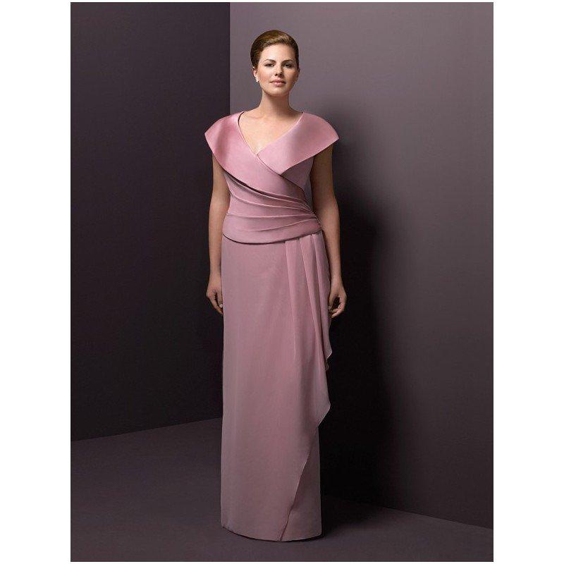 Darius Cordell TX - Portrait Collar Mother of Bride Dresses for Plus Size Women