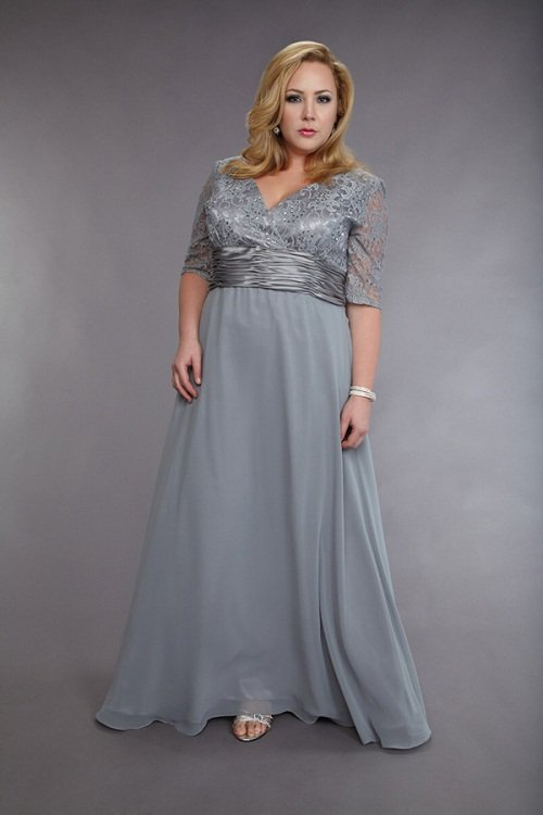 #2013-M75 Short Sleeve Plus Size Mother of The Bride Dresses - Darius Cordell