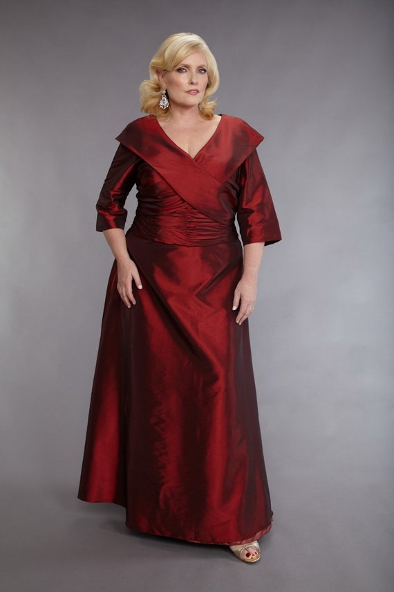 #2013-M89 x | Plus Size Mother of Bride Gowns - Satin Ball Gowns