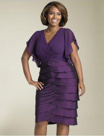 #C2013-49 x | Short Sleeve Plus Size Cocktail Dresses