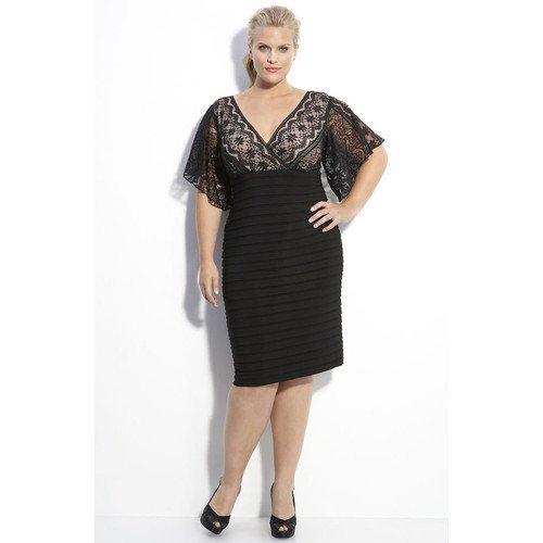 #C2013-50 x   Black Cocktail Dresses for larger women