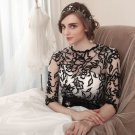 #Br832 x   Black White Wedding Dresses   Black White Bridal Gowns