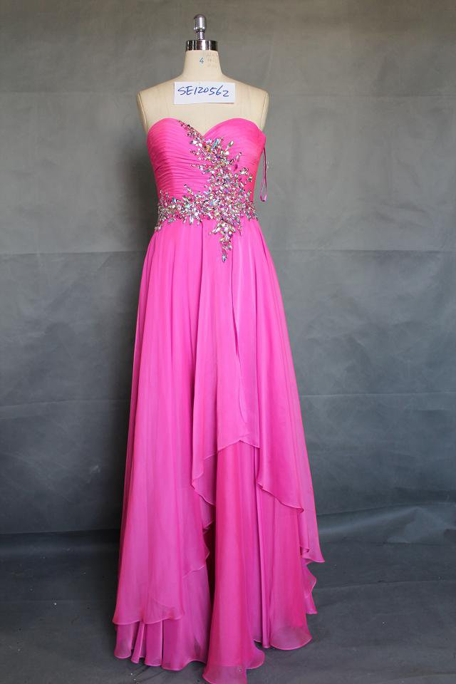 x - , Pink Evening Dresses, Pink Prom Dresses, Pageant Wear