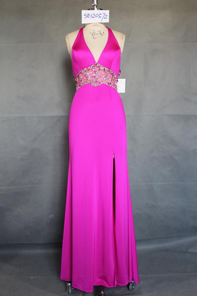 Darius Cordell Halter Evening Dresses, Pink Pageant Gowns