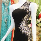 x - Black Pageant Dresses, One Shoulder Evening Gowns
