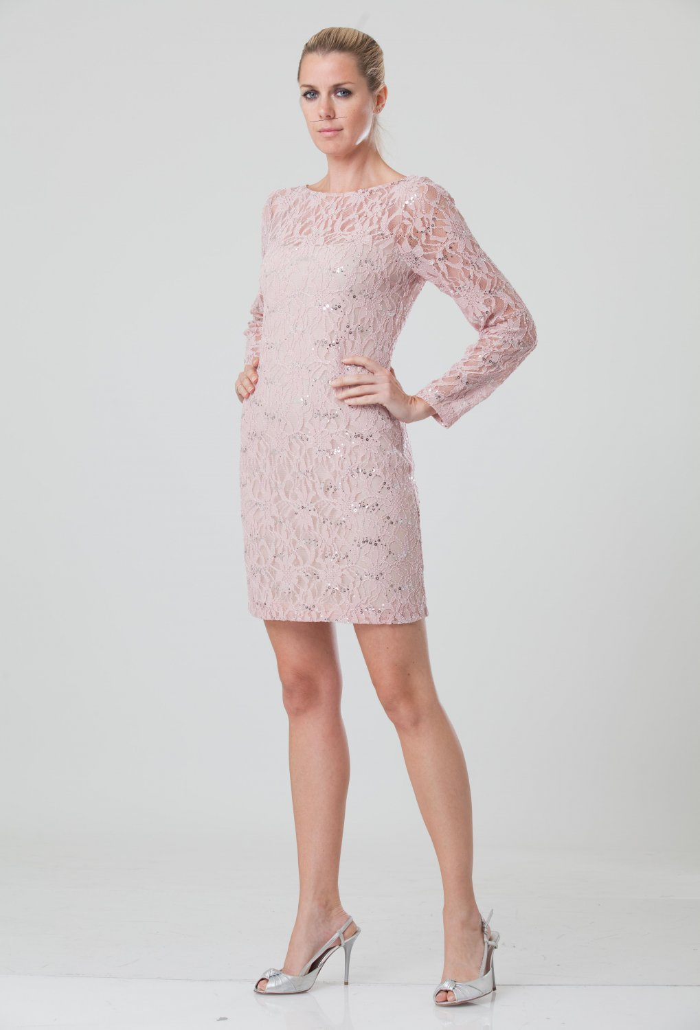 GA#862609 x - Long Sleeve Cocktail Dresses, Lace Formal Wear