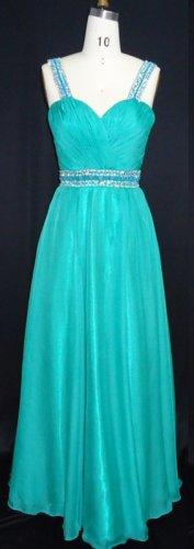 #MHC102-A x - Empire Waist Prom Dresses, Beaded Evening Wear
