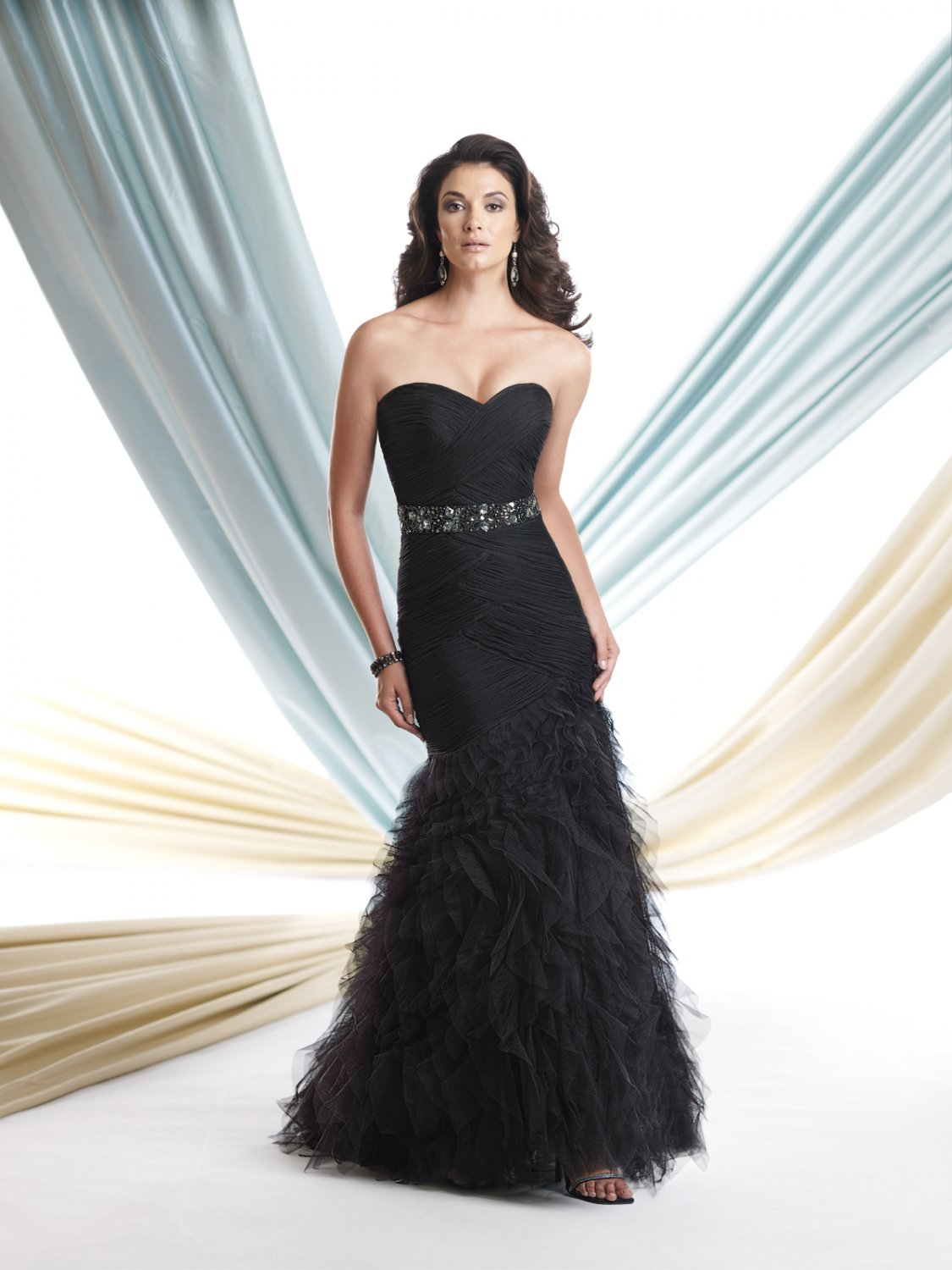 x - #JL113913 - Black Strapless Formal Dresses