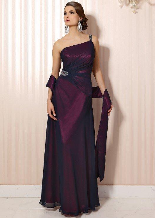 #LE058 One Shoulder Evening Gowns