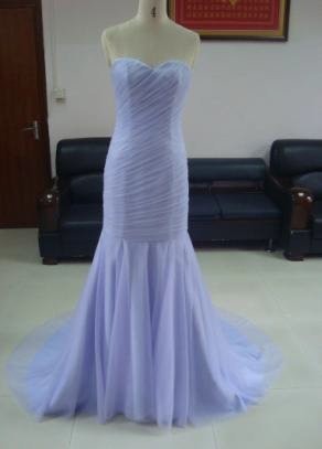 #LE1084 Light Purple Evening Dresses, Pastel Chiffon Formal Gowns
